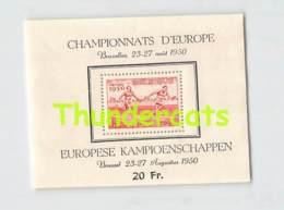 BLOK 29 ** POSTFRIS CHAMPIONNATS D'EUROPE 1950 EUROPESE KAMPIOENSCHAPPEN HEYSEL - Blocs 1924-1960