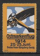 Allemagne - Vignette Ostmarkenflug 1914 - Neuf * Avec Charnière - TB - Aéreo