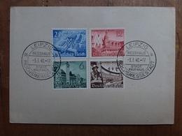 GERMANIA III REICH - Fiera Di Lipsia - Timbrati Su Cartolina + Spese Postali - Usati