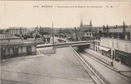 2 CPA POISSY Panorama Vers La Gare Et La Cathédrale ( Magasin Photo) -Boulevard De La Seine ( Landau ) - Poissy
