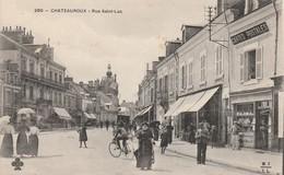 7 CPA CHATEAUROUX Rue St Luc -Place Du Palais – Gambetta - La Gendarmerie - La Caserne Bertrand - Le Château Raoul Circu - Chateauroux