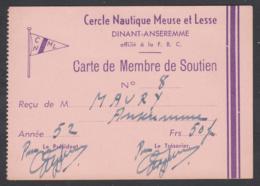 Dinant-Anseremme - Cercle Nautique Meuse Et Lesse - 1952 - Old Paper