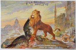 BELGIQUE CPA 14 18 A LA BELGIQUE LIBÉRÉE QUAND MÊME TO BELGIUM FREE AT LAST WW1 - Guerre 1914-18