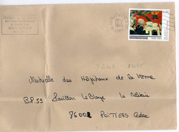 France N° 3207 Y. Et T. Vienne Poitiers Centre De Tri Flamme Muette Du 26/02/1999 - Marcophilie (Lettres)