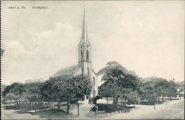 Ansichtskarte Kehl (Rhein) Kirche & Kirchplatz 1910 - Kehl