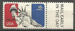 USA - 1974 Statue Of Liberty Mail Early Single  MNH **  Sc C87 - 3b. 1961-... Ungebraucht