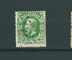 [30_0007] Zegel 30 Met Puntstempel 35 Beloeil Scan Voor- En Achterzijde - 1869-1883 Leopold II.