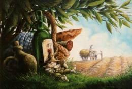 """CPM - ALMANACH Des KORRIGANS """"La Sieste"""" - Illustration Pascal MOGUEROU - Edit. Au Bord Des Continents - Comicfiguren"""