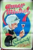 """Affiche Apéritif AMER MICHEL. Véritable Lithographie Des """"30. Format 33x48.5cm. 11 Photos. Paypal OK - Affiches"""