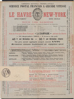 """France - Bandelette Pour Imprimé + Imprimé """"Service Postale Français à Grande Vitesse : Le Havre - New York"""" - Francia"""