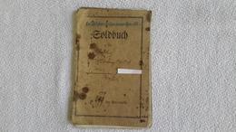 Soldbuch Feldbäckerrei - Kolone Nr. 77  1915 1 WK Militär - 1914-18