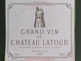 PAUILLAC 1ER GRAND CRU CLASSE CHATEAU LATOUR 1997 - Bordeaux