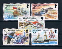 Alderney 1991 Schiffe Mi.Nr. 49/53 Kpl. Satz ** - Alderney