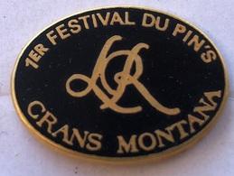 1ER FESTIVAL DU PIN'S - CRANS MONTANA - CANTON DU VALAIS - SUISSE- SWISS - ELSA VINCENT.R.G - ALCARA  PARIS - EGF - (24) - Villes