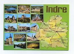 Mint French Mapcard. France. Département De L' Indre. Multivues Multiview. CP Neuve. Voir Recto Et Verso Sur 2 Photos - Cartes Géographiques