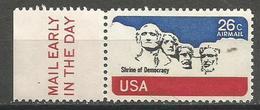 USA - 1974 Mount Rushmore Mail Early Single  MNH **  Sc C88 - 3b. 1961-... Ungebraucht