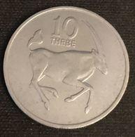 BOTSWANA - 10 THEBE 1979 - Oryx  - KM 5 - Botswana