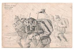 Militaires -  Guerre 14 /18 - Suisse  -  Cachet Saint Imier -  -  Permission De Fumer - Rauchen Erlaubt -  CPA ° - Guerre 1914-18