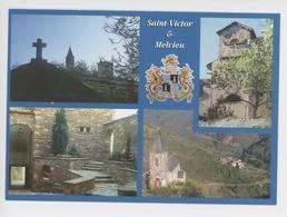 Saint Victor Et Melvieu (multivues Cp Vierge  Causses Cevennes) Blason - Saint Victor