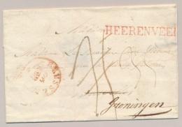 Nederland - 1829? - HEERENVEEN PEP 1120-04 Rood Op R-omslag Naar Brussel En Door Naar Groningen - Mooi Lakzegel - Nederland