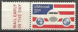 USA - 1976 Airplane Mail Early Single  MNH **  Sc C90 - 3b. 1961-... Ungebraucht