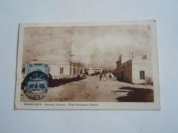 SOMALIA Colonie Italienne Cpa - MOGADISCIO V DUCA D AOSTA MOSCHEA  -  BENADIR SOPRASTAMPATO. - ANNA2 1\2 SU 25 CENT - Somalië