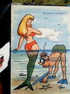 HUMOR PIN UP  SIRENA  SIRENETTA  E SUB  SORPRESE SUBACQUEE N1960 HO7895 - Humor
