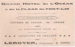 CPA - 44 - PORNIC - Grand Hotel De L'Océan Plage De Port-Lin - Propriétaire LEROYER - Pornic