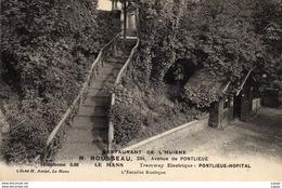 LE MANS  Restaurant De L'HUISNE. L'Escalier Rustique  TBE - Le Mans