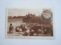 SOMALIA Colonie Italienne Cpa - DONNE AL POZZO  -  BENADIR SOPRASTAMPATO. - 5B SU 50C SU 5A - Somalië