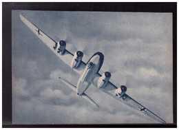 DT- Reich (008909) Propagandakarte Der Langstrecken- Bomber Focke Wulf Fw200, Ein Gefüchteter Gegner, Ungebraucht - Germany