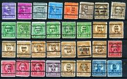 U.S.A. -  32 PRECANCELS  - Selection Nr 340 - Precancels