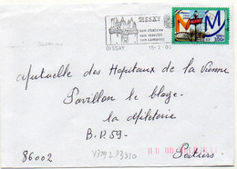 France N° 3292 Y. Et T. Vienne Dissay Flamme Illustrée Du 15/02/2000 - Marcophilie (Lettres)