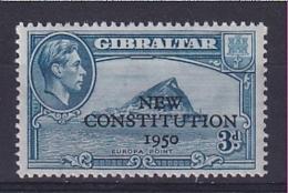 Gibraltar: 1950   Inauguration Of Legislative Council    SG141    3d     MNH - Gibraltar