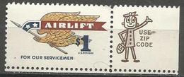 USA - 1968 Airlift Zip Single  MNH **  Sc 1341 - Ungebraucht