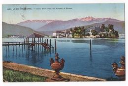 Cartolina-Postcard, Viaggiata (sent), Isola Bella, Lago Maggiore, Vista Dal Kursaal Di Stresa - Verbania
