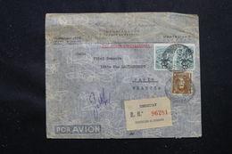 URUGUAY - Enveloppe En Recommandé De Montevideo Pour La France En 1949, Affranchissement Plaisant - L 58959 - Uruguay