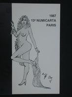 Ref5989 CPM Nu De Chung - Numicarta 1989 - Dessin De Femme Posant Nue - 1987 - Tirage Limité - Artistic Nudes (1960-…)