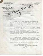51 - Marne - REIMS - Facture DETRE - Teinture, Apprêts, Blanchiment De Tissus - 1932 - REF 141A - 1900 – 1949