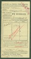 """CLUNY /Saone&Loire) Coupon D'Achat Carte Ravitaillement 1945 """" Bon D'achat Acier Pour Agriculteures """" - Historische Dokumente"""