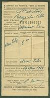 """CLUNY /Saone&Loire) Coupon D'Achat Carte Ravitaillement 1944 """" Bon D'achat Acier Pour Agriculteures """" - Historische Dokumente"""