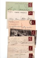 TIMBRE TYPE SEMEUSE CAMEE..15c BRUN .....VOIR DETAIL......LOT DE 200 SUR CPA.....VOIR SCAN......LOT 8 - 1906-38 Semeuse Camée