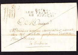1811 Faltbrief Franz. Armee In Spanien. ARM Francais En Espagne.Lettre D'Alba Nach Toulouse - 1801-1848: Precursores XIX