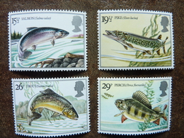1982 British River Fish  SG = 1207 / 1210   **  MNH - 1952-.... (Elizabeth II)