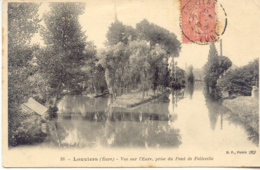 CPA - LOUVIERS - VUE SUR L'EURE, PRISE DU PONT DE FOLLEVILLE - Louviers