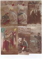 Lot 16 Cpa Cartes Patriotiques Avec Correspondance Guerre 1914 1918 Militaire Carte Patriotique Drapeau Coeur Française - Patriotiques