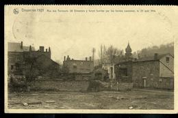 Carte écrite: 1921 - Rue Des Tanneurs ; 28 Dinantais Y Furent Fusillés Par Les Hordes Saxonnes 23/08/14 - Dinant