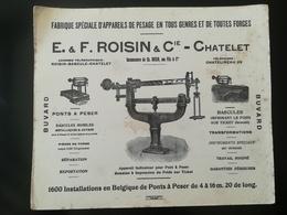BUVARD PUBLICITÉ De  E. & F. ROISIN & Cie - CHÂTELET Chatelet BELGIQUE Wallonie Hainaut - Châtelet