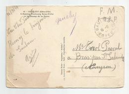 Marcophilie 14/09/1944 Fm Ftpf  Saulieu 21 Cote D'or Pour Bras  Aveyron 12 - Postmark Collection (Covers)