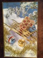 Carte, Bonne Année 1984, Fantaisie, Sapin, Guirlandes, Brouette, Fleurs, Boules, éd Photochrom - Nieuwjaar